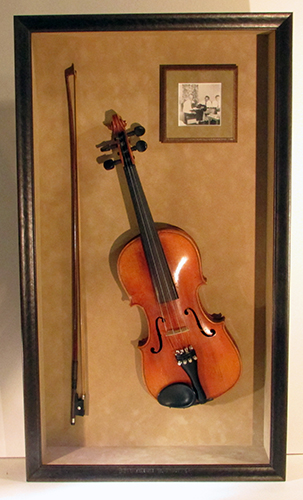 violin shadowbox picture frame
